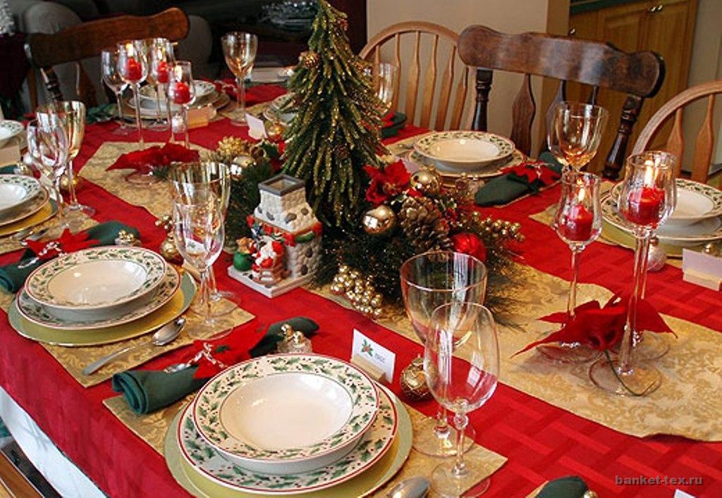 Новогоднее оформление стола  фото